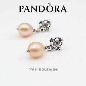 🎉HP🎉 Pandora Rose freshwater pearl drop earrings